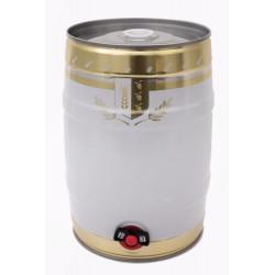 Mini-Keg 5L ozdobny z kranikiem + plastikowa zaślepka